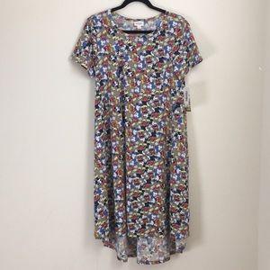NWT LuLaRoe Disney Carly Dress Mickey Mouse Sz S